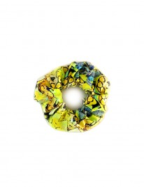 YELLOW SNAKE SCRUNCHIE