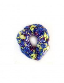 BLUE FLOWER SCRUNCHIE