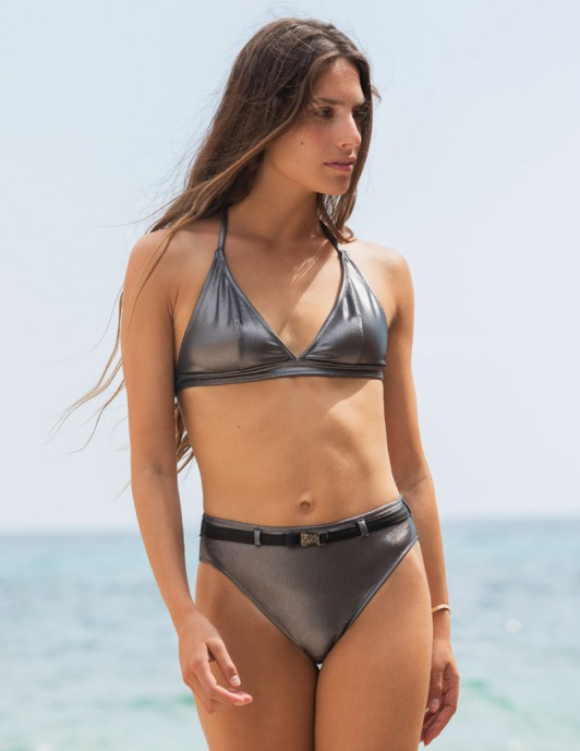 SILVER BELT TRIANGLE BIKINI