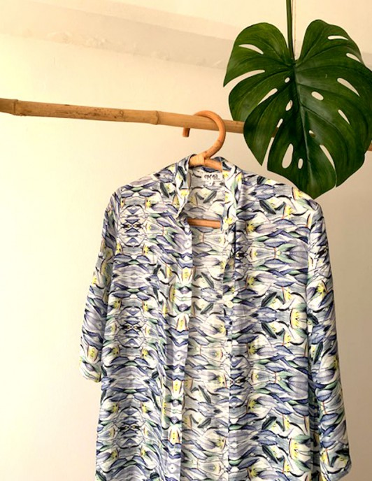 TROPICAL VIBE LONG SHIRT