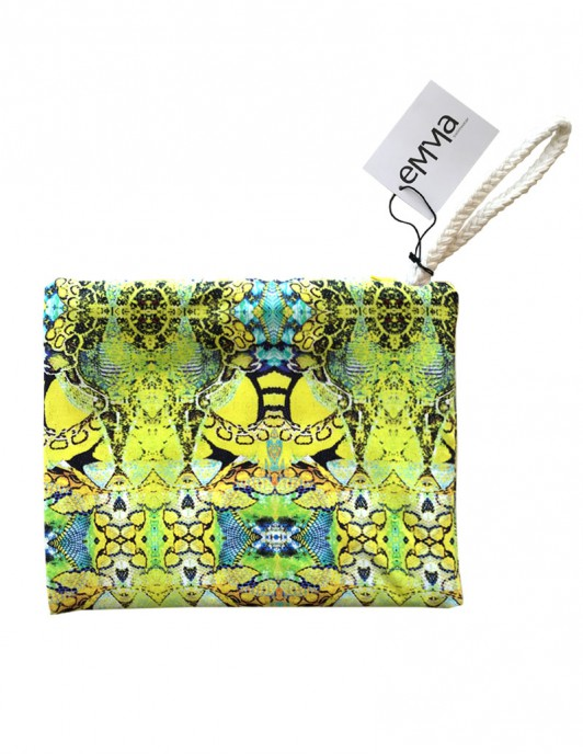 Yellow snake pouch