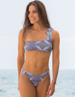 BLUE BANANAS ONE SHOULDER BIKINI