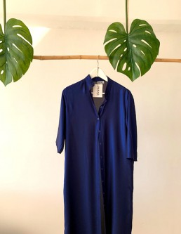 METALLIC BLUE LONG SHIRT