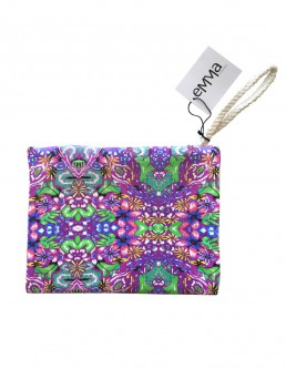 Purple flower pouch