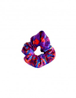 PURPLE - ORANGE SCRUNCHIE