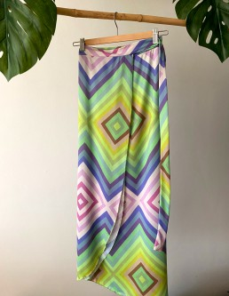 RAINBOW WRAP SKIRT