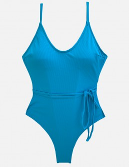 RIBBED TIRQUOISE ONE PIECE