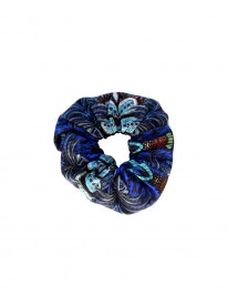 BLUE JUNGLE SCRUNCHIE