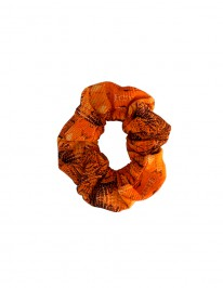 ORANGE GRAIN SCRUNCHIE