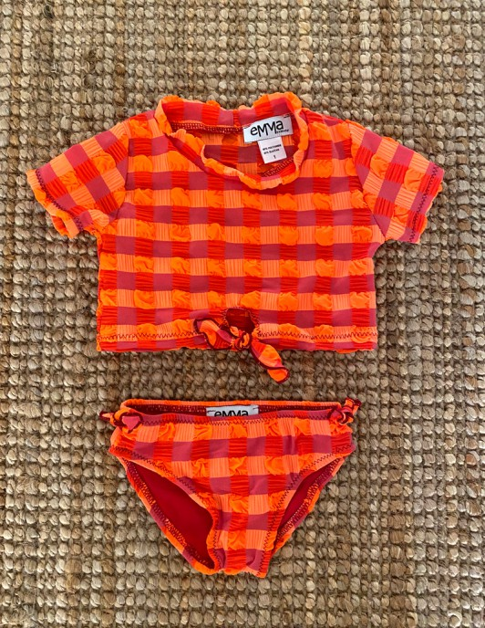 NEON ORANGE KIDS BIKINI