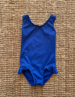 RIBBED BLUE KIDS ONE PIECE