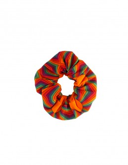 PSYCHO ORANGE SCRUNCHIE