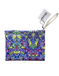 Blue flower pouch